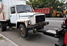 Эвакуация грузового автомобиля